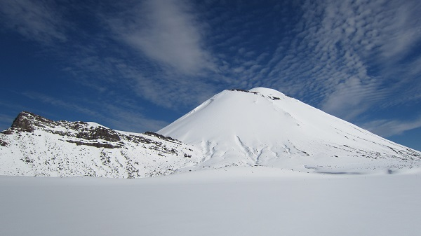 Tongariro National Park in winter