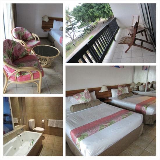 Anchorage Beach Resort - room, bed, balcony, bathroom