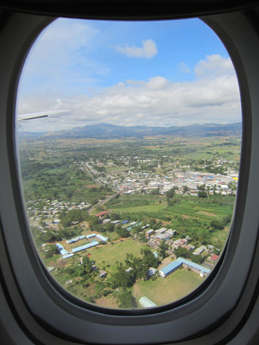 Fiji view from airplane