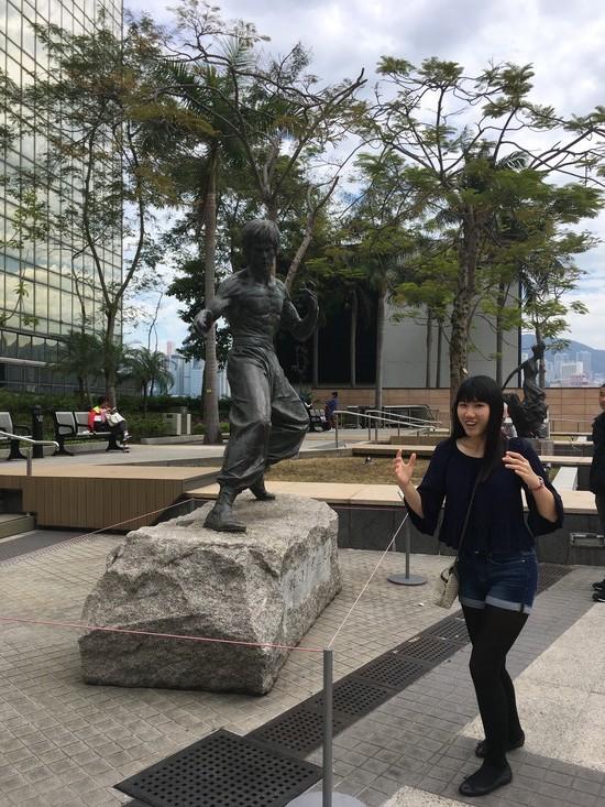 HK10 Garden of Stars Bruce Lee Statue