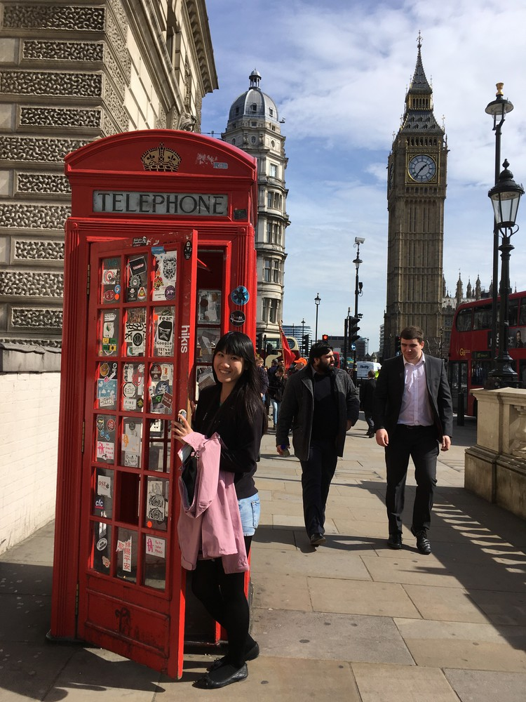 Telephone Booth and Big Ben in London