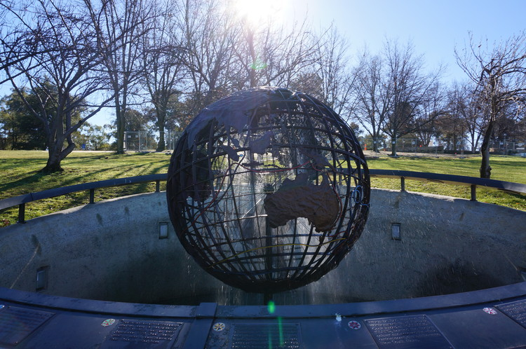 Canberra Travel Ideas - The Captain Cook Memorial Globe